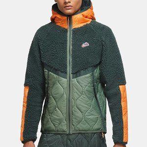 NWT Nike Sportswear Heritage Quilted Fleece Jacket